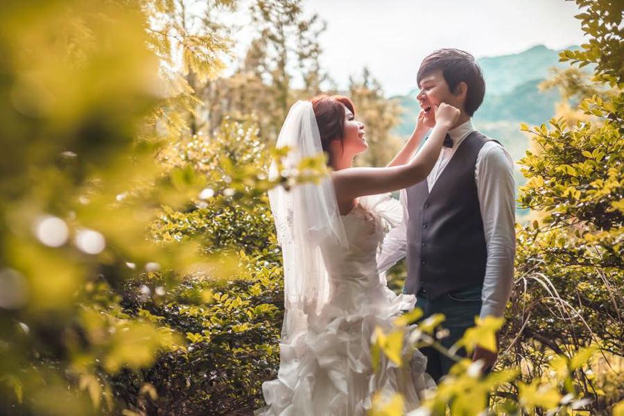 新秘Yuki│台北婚紗│白紗造型│新娘包頭│新娘頭紗│婚紗照│陽明山