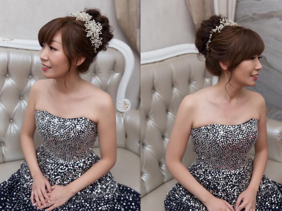 新秘Yuki│新秘推薦│黑色禮服│深色禮服│盤髮│丸子頭│新娘髮型