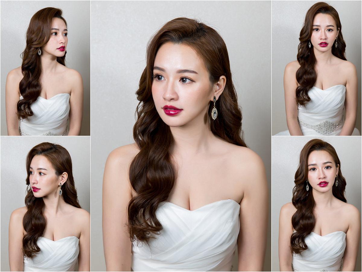 北部新秘│長捲髮│紫色口紅│新娘髮型│wavy hair|新娘造型|新娘髮型|白紗造型|高雄新秘|新秘YUKI|婚宴造型