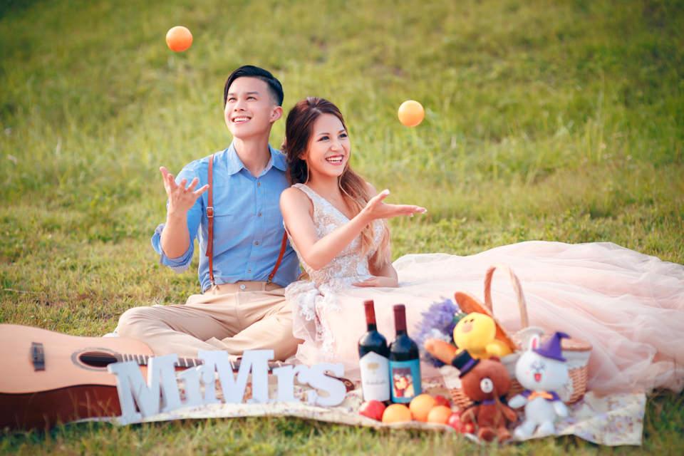 自然浪漫的歐美風格造型~台北自助婚紗│攝影英聖-寶靖&依婷